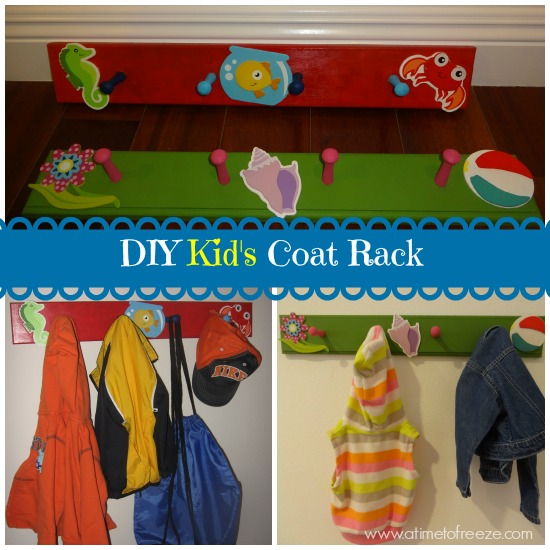 DIY Kid's Coat Rack