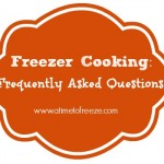 Freezer Cooking: Frequently Asked Questions