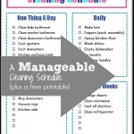 A Manageable Cleaning Schedule (plus a free printable)