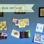 DIY Kids Art Wall