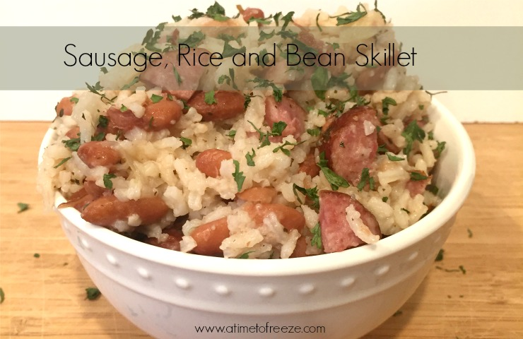 Sausage, Rice and Bean Skillet