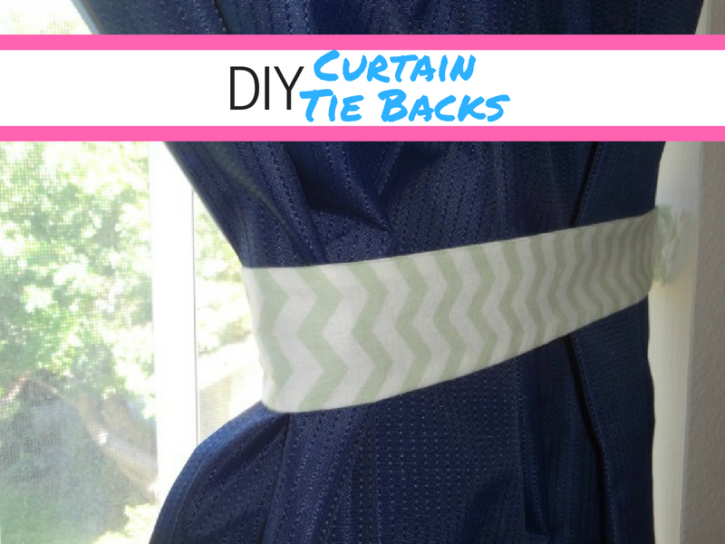 tutorial on how to make curtain tie backs