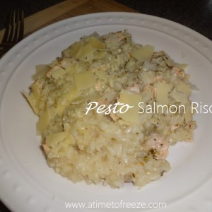 Pesto Salmon Risotto {Recipe}